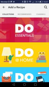 DO app opciones añadir recipe