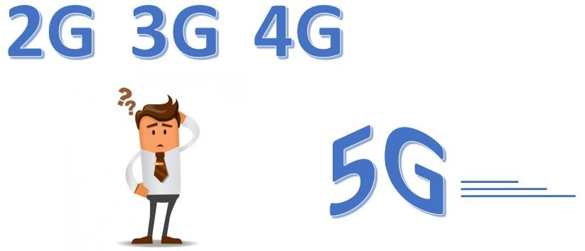 Generaciones móviles 2G 3G 4G y 5G